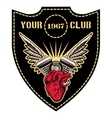 Motor club emblem vector image vector image