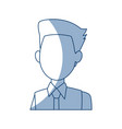 profile man male cartoon faceless image vector image vector image