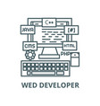 programmingcodingwed developer line icon vector image vector image