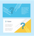 question mark abstract corporate business banner vector image