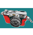 Rangefinder camera sketchbook vector image