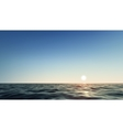 Realistic Beautiful sunset above the sea vector image vector image