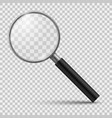 realistic magnifier magnifying glass magnify vector image