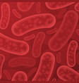 red bacterium organisms vector image vector image