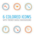 repair icons set collection of bolt digging vector image vector image