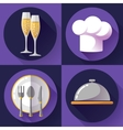 Restaurant icons set Cooking and kitchen vector image vector image