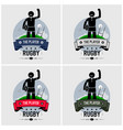 rugby club logo design artwork of strong vector image
