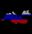 russia colors dot mediterranean sea map vector image vector image