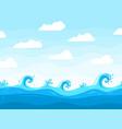 sea waves background ocean wave pattern water vector image vector image