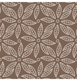 seamless pattern with leaves and petals vector image vector image