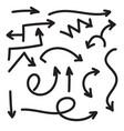 set arrows vector image vector image