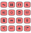 set of simple friends icons vector image vector image