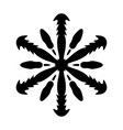 simple snowflake isolated vector image vector image