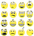 Smileys vector image vector image