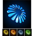 Snowflake vibrant emblems vector image