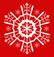 snowflake white vector image vector image