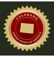 Star label Colorado vector image