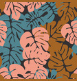 summer seamless tropical pattern vector image vector image