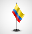 Table flag of Colombia vector image vector image