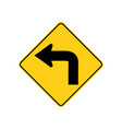 usa traffic road signs advance warning a low vector image vector image