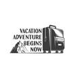 vacation adventure retro logo vector image vector image