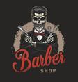 vintage barbershop logotype vector image