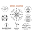 vintage nautical stamps set old ship retro style vector image vector image