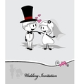 wedding couple on gray background vector image vector image