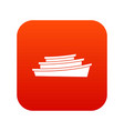 wooden boat icon digital red vector image vector image