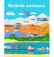 Worldwide Warehouse Design Flat vector image vector image