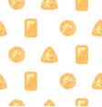 yellow gemstones set vector image