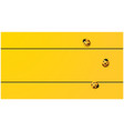 yellow tone background with ladybugs vector image vector image