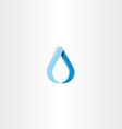 drop of water blue logo sign vector image