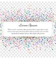 Confetti celebration postcard vector image