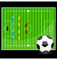 soccer ball with ground display vector image