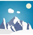 Mountain landscape in the summer vector image
