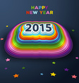 2015 colorful paper decor vector image vector image
