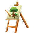 A painting of a tree vector image