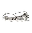 alpine house sketch vector image