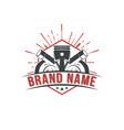 automotive performance badges logo vector image vector image