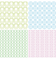 baby patterns vector image vector image