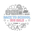 back to school big sale round outline vector image vector image