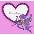 Background with Cupid vector image vector image