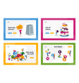 bakery shop vitamins and dairy products landing vector image