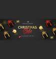 banner or poster for christmas sale vector image vector image