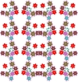 Beautiful flower seamless pattern vector image