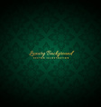beautiful green luxury background vector image