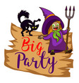 big party logo cartoon style vector image