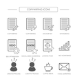 Black and white icons of copywriting vector image vector image