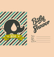 boy baby shower invite greeting card vector image vector image
